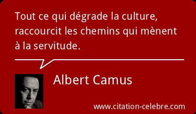 Camus et la culture qui libère