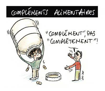 Complements alimentaires dessin humour