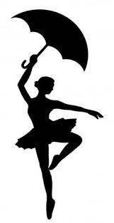 Danseuse avec parapluie ombre