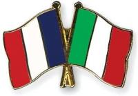 France et italie drapeaux