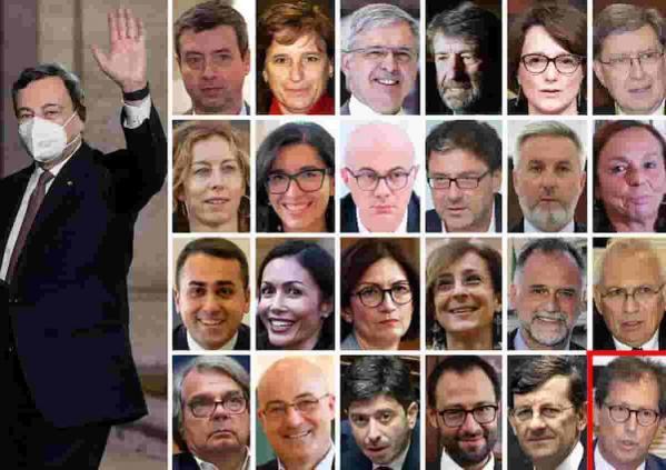 Governo draghi ministri