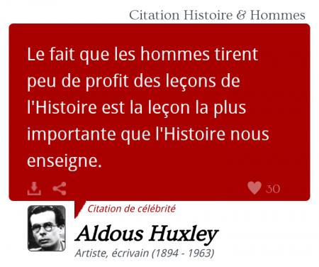 Huxley citation
