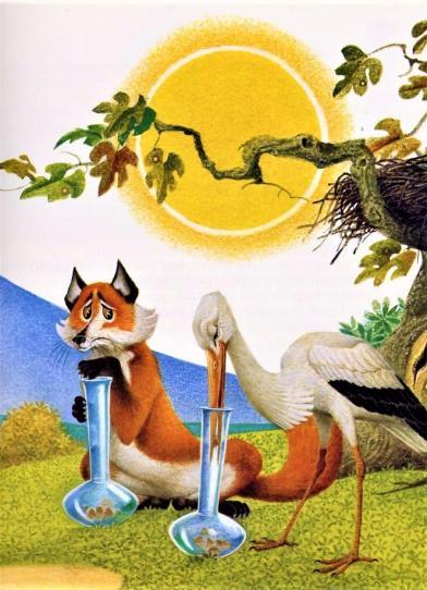 La fontaine le renard et la cigogne