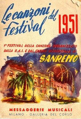 Libretto del festival di sanremo 1951