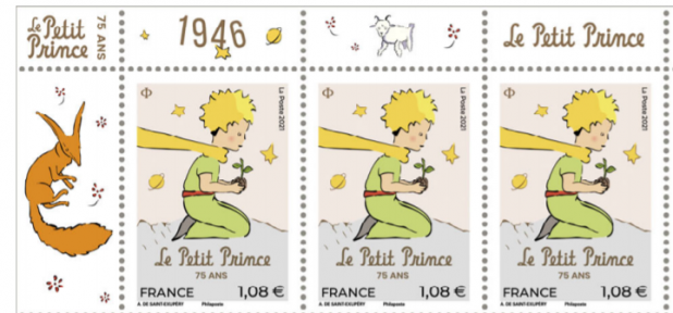 Petit prince 75 ans timbres