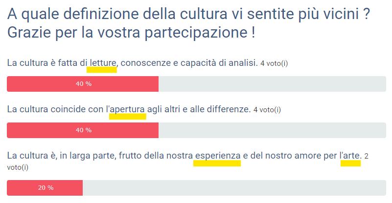 Sondaggio cultura n 1 c s